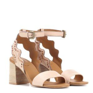 SEE BY CHLOÉ Embellished Scalloped Leather Sandals